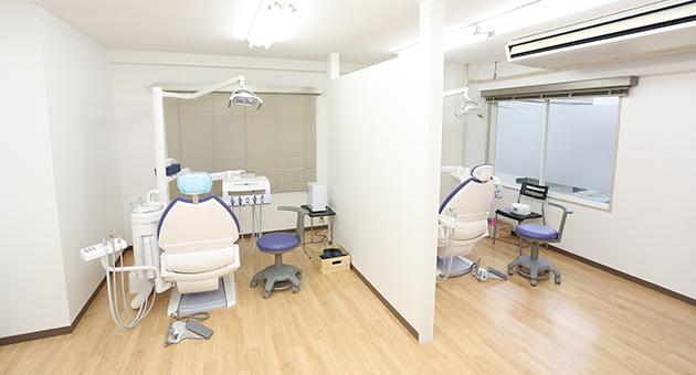 診療室ユニット2台